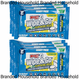 60 x MIGHTY BURST ALL PURPOSE WIPE & GO CLEANING TOILET SEAT FLUSHABLE WIPES