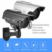 Dummy Camera CCTV Home Security Surveillance Dome Cam Fake IR LED Light Outdoor