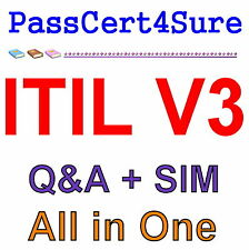 Best Practice Material For ITIL V3 Foundation Exam Q&A PDF+SIM