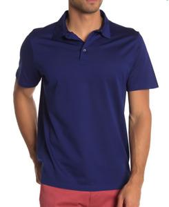 David Donahue Knit Short Sleeve Cotton Polo Navy XL NWT $145