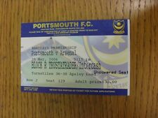 25/03/2006 Ticket: Portsmouth v Arsenal  (light fold). Thanks for viewing this i