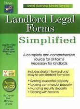 Landlord Legal Forms: Small Business Made Simple Series, Sitarz, Daniel, Good Bo