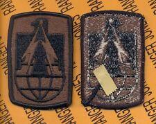 US Army 11th Signal Brigade OD Green & Black duty uniform patch m/e