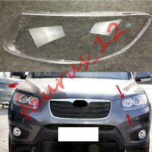 For Hyundai Santa Fe 2007-2012 Replace Left Side Clear headlight cover PC+Glue
