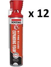 Soudal B1 Fire Rated Foam Genius Gun Expanding Insulating PU Foam 600ml x 12