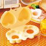 Double Microwave Egg Poacher Flower Heart Shape Cheese Egg Cooker