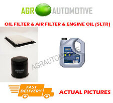 PETROL OIL AIR FILTER KIT + C1 5W30 OIL FOR MAZDA 2 1.5 102 BHP 2011-