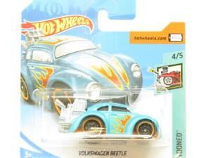 Hotwheels Volkswagen Beetle Tooned 347/365 Blu Piccolo Scheda 1 64 Scala Sealed
