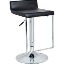 Bromi Design Spencer Adjustable Height Swivel Bar Stool, Black/Chrome - BF2630BL
