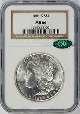 1881-S $1 Morgan Dollar NGC CAC MS66