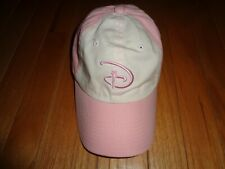 Walt Disney World Ladies Adult Golf Hat Adjustable Pink D Cap Wdw Park Exclusive