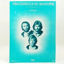 1976 The Bee Gees You Should Be Dancing Sheet Music Saturday Night Fever Disco