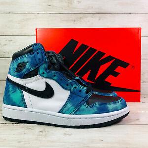 Air Jordan 1 Retro High Womens Size 7.5 Mens 6 Tie Dye Nike Green CD0461-100 NEW