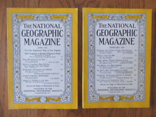 Two Vintage National Geographic Magazines 1955 1956