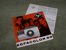 AGFA AGFACOLOR 50 Slide Projector Instruction Manual