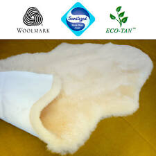 New Cozy Mate Baby Lambskin Sheepskin Rug Australian Eco-Tan Sanitized (Gold)