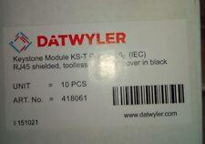 10stk  Dätwyler Keystone Modul  KS-T Plus Cat.6a (IEC) RJ45 ART.Nr:418061 (C4)