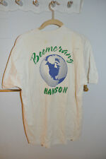 EXTREMELY RARE Hanson Prefame Boomerang Shirt Signed by Isaac and Taylor 1994!