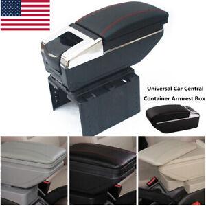 PU Leather Car Auto Central Container Armrest Box Storage Case Universal Trim