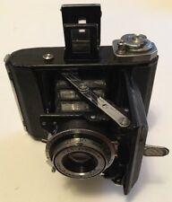 "Splendido vintage Zeiss Ikon"" ""IKONTA 521"" fotocamera compatta pieghevole B2 film, con custodia"