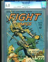 Fight Comics 42 CGC 6.0 Classic Doolin Japanese War Cover GGA 1946 Matt Baker