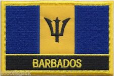 Barbados Flag Embroidered Patch Badge - Sew or Iron on