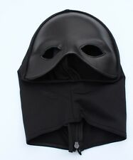 Leather Eye Mask with Lycra Hood Fetish Mask Gimp Hood by Ledapol adjustable