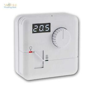 Raumtemperatur-Regler, Thermostat 7A 230V, Aufputz Raumthermostat, LED-Display