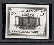 AUSTRIA-ÖSTERREICH-MNH-STAMP-BLACK PRINT-Stamp Day, Bahnpostwagen-2001