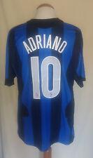 Camiseta Inter Milan #10 ADRIANO 2004-2005 Shirt Maglia Trikot Pirelli