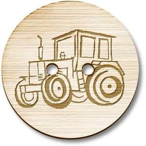 'Tractor' Wooden Buttons (BT003906)