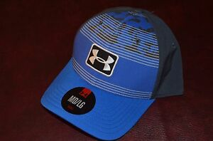 NWT MSRP $29 Under Armour Brand Hat Cap Blue Grey Size M/L Last One