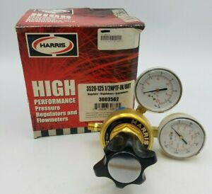 Harris 3520-125 1/2NPTF-IN/OUT Manifold Welding Pressure Regulator 3003562 NOS
