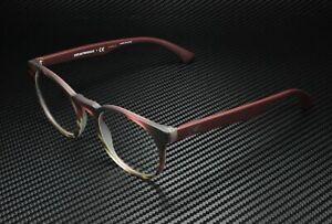EMPORIO ARMANI EA3156 5790 Matt Striped Bordeaux Demo Lens 50 mm Mens Eyeglasses