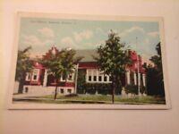 Vtg 1915-1930 White Border Postcard CITY LIBRARY, EMPORIA, KANSAS (1944)