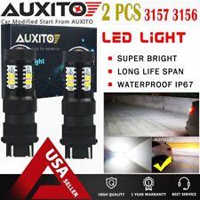 AUXITO 3157 4114 4157 LED DRL Driving Daytime Running Light Bulb 6000K White EOA
