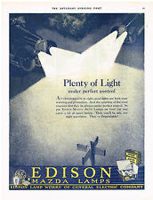 Edison Lamps Lights General Electric Mulsified Shampoo Magazine Advertisment Ad