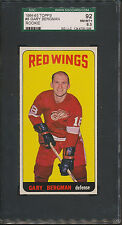 1964/65 Topps #8 Gary Bergman SGC 92 NM/MT+ 8.5 *5008