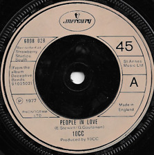 10CC - PEOPLE IN LOVE / I'M SO LAID BACK I'M LAID OUT - 1977 UK  - 70s POP ROCK