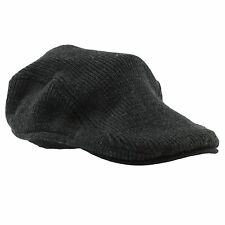 Van Heusen Men's One Size Charcoal Ribbed Fitted Beret Ivy Cap Newsboy Hat NEW