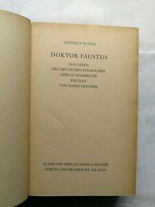 Thomas Mann-Dr. Faustus - Das Leben des deutschen Tonsetzers Adrian...