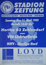Programm 1998/99 Hertha 03 Zehlendorf - VfB Lichterfelde