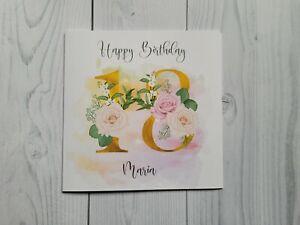 Age 18 Birthday, 18th, Birthday card, personalised, free postage