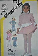 SIMPLICITY - GIRL'S YR 3-4 STRETCH KNIT - SKIRT, PANTS, TOP