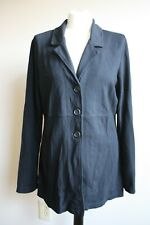 Chico's 2 (L 12) Black Rayon Blend 3-Button Blazer Jacket USA