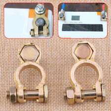2x Car Auto Negative And Positive Battery Copper Terminal Clamp Clips Connector