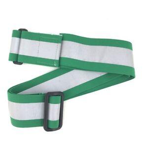 Green PT Belt High Visibility Reflective Elastic, Physical Training Running Belt