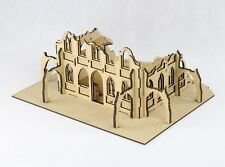 GOTHIC RUIN Type E Laser Cut Wargaming Scenery 28mm Warhammer 40 000 Bolt Action
