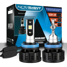 NOVSIGHT H11 H8 H9 LED 60W 16000LM Headlight Light Bulbs White Beam 6500K
