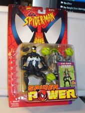 TOY BIZ SPIDERMAN SPIDER POWER SLIME SHAKER VENOM FIGURE MINT ON CARD L2